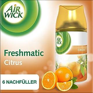 Air Wick Freshmatic Max Nachfüller für automatisches Duftspray, Citrus, 3x2 Stück (6 x 250 ml)