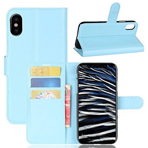 Coque Apple iPhone 8, Frlife | Housse en Cuir PU pour Apple iPhone 8 Coque Avec Étui en Silicone Avec Étui en Silicone (5.8 Pouces) Violet Bleu