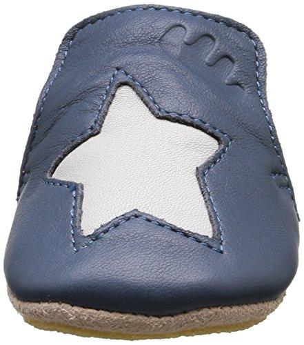 Easy Peasy Unisex Baby Blublu Etoile Krabbelschuhe Blau (526 denim/inwi)