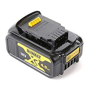 51jnggLKb7L. SS300  - Dewalt DCB182-XJ Batería carril XR 18V Li-Ion 4, 18 V, Negro y amarillo