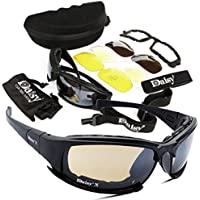 Army Sunglasses Military Goggles 4 Lenses Kit Tactical Glasses Gear UV Blocking Protective Eyeware for Men's Outdoor Sports War CS Game