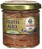 Rizzoli Filetti di Alici Vaso Vetro in Olio di Oliva - 6 Confezioni da 165 gr