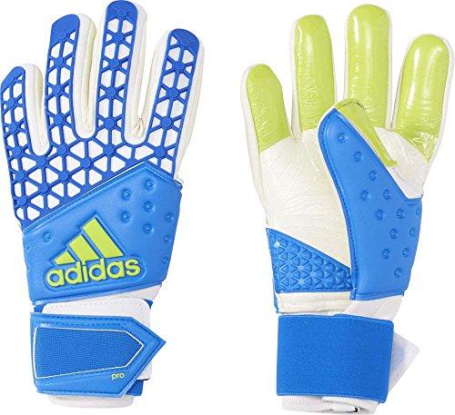 adidas Herren Torwarthandschuhe Ace Zones Pro Shock Blue S16/White/Semi Solar Slime, 10.5