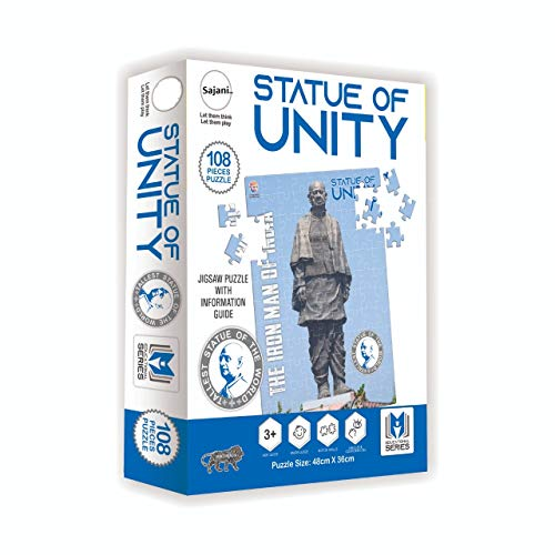 Sajani Play & Learn Statue of Unity Puzzle Game (108 Pcs)