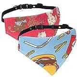 Pawaboo hundehalsband, [2Stück] Einstellbar Hunde Halsband Weihnachten hunde tuch halstuch lätzchen dreiecks für Katze, Hunde, Welpeln,, Blau & Rot, S, Für 21,6cm-35,6cm
