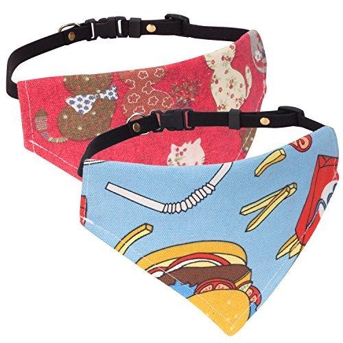 d, [2Stück] Einstellbar Hunde Halsband Weihnachten hunde tuch halstuch lätzchen dreiecks für Katze, Hunde, Welpeln,, Blau & Rot, S, Für 21,6cm-35,6cm ()
