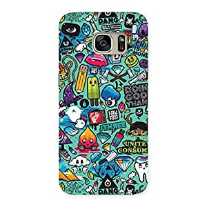 Impressive Premier candy Multicolor Back Case Cover for Galaxy S7