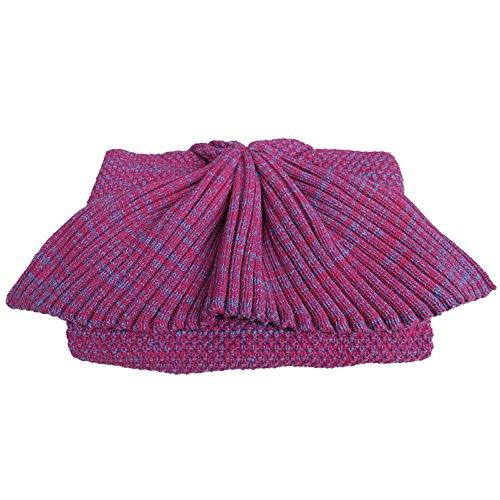 Meerjungfrauen-Schwanz Kuscheldecke, für Teenager/Erwachsene, Geschenk für familien, Hot Pink, Adult size: L:70.8 *W: 31.4 (inch)