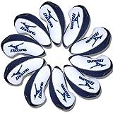 Mizuno golf Schlägerkopfhüllen Golf Eisen deckt Eisenhauben 10pcs/set MT/Mz02 weiß/blau