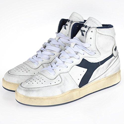 ... Diadora Heritage Herren High Sneaker Mi Basket Used 158569  White Corsair (C1494) ... 5174a0ebf0