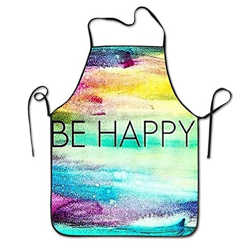 ZMYGH Personalized Aprons Rainbow Love Bacon Attitude Twill Customized Home Kitchen Apron Twill Snap