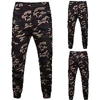 TAOtTAO Men Pants Men Camouflage Pocket Overalls Casual Pocket Sport Work Casual Trouser Pants