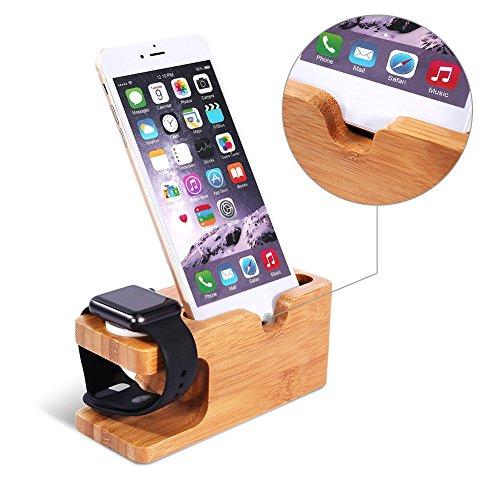 Universal-schreibtisch-ladegerät (Holz Ständer Ladestation Wiege Halter Organizer Ladekabel Dock Universal Halterung natürlichen Multifunktions Innovative für Apple Watch Phone)