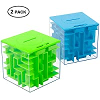 Twister.CK Money Maze Puzzle Box, Unique Money Gift Holder Box, Fun Maze Puzzle Games for Kids and Adult Birthday (2PACK)