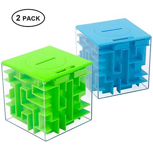 Twister.CK Money Maze Puzzle Box, einzigartige Geld-Geschenk-Box, Spaß Labyrinth Puzzle-Spiele für Kinder und Erwachsene Geburtstag (2PACK)