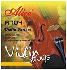 lice VIOLIN STRINGS A704 full set 44 and 34 size E A D G steel core ball end