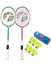 Feroc Swag Set of 2 Piece Badminton Racket with 6 Piece Nylon Shuttle