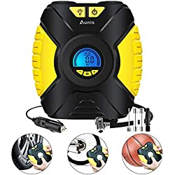 Tyre Inflator, Portable Air Compressor Pump With Pressure Gauge Digital LCD Screen 3-Mode LED Light, Car Pump 12V, 150 PSI Air Compressor For Car Tires Bike Basketball And Other Inflatables