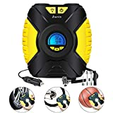 Picture Of Tyre Inflator, Portable Air Compressor Pump With Pressure Gauge Digital LCD Screen 3-Mode LED Light, Car Pump 12V, 150 PSI Air Compressor For Car Tires Bike Basketball And Other Inflatables