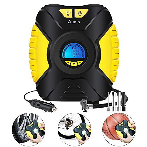 Aunis Compresseur d'air Portatif 12V, 150 PSI...