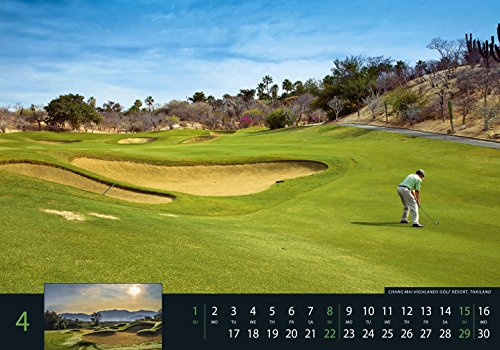 Golf 2018 - Sportkalender / Golfkalender international (49 x 34) - 6