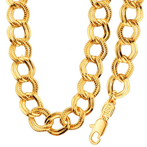 America Fashion Style 18K Gold Plated Double Chain 55CMNecklace&Bracelets Party Jewelry Gift NB60044
