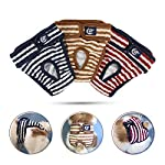 Namsan Dog Soft Nappies(3 Pack) Reusable Pet Diapers Adjustable Sanitary Wraps Dog Panties(Blue,Brown,Red)