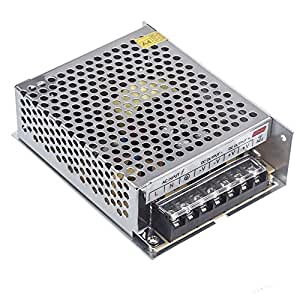 Lixada Alimentatore Stabilizzato per striscia bobina a LED switch trimmer AC 100V~240V DC 24V 5A 120W