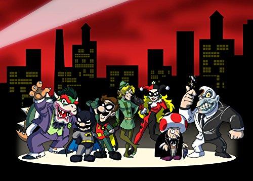 Alle Charakter Heroes & Villains Video Spiel & Bat Super Hero Parodie-Rechteck Kühlschrank Magnet