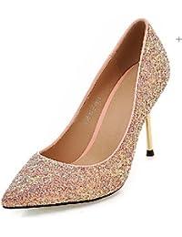 BGYHU GGX/Damen Schuhe Fall Heels Heels Outdoor/Office  Karriere/Casual geschoben Ferse bowknotblack/Pink/Rot