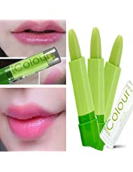 LuckyFine Magic Green Color Changing Lip Makeup Long Lasting Lipstick Cosmetic