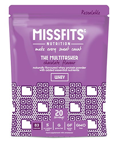 MISSFITS Whey Protein Isolate Multitasker - Protein Powder with Added Essential Nutrients for Women - Great Tasting, All Natural, No Added Sugar, Low Fat - Chocolate (500g)