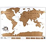 #6: Lepakshi Big Size Deluxe Edition Scratch World Map with Scratch Off Layer Visual Travel Journal for Travel Maps 82X59Cm Classic Gold Bla