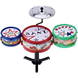 Andoer® Set of Small Jazz Drum Kids Electronic Plastic Gift Toy Jazz Drum Musical Instrument
