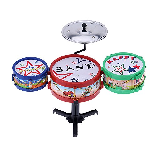 Andoer® Set von Kleiner Jazz Trommel Kinder Elektronischer PlastischerSpielzeugJazz Trommel Musikinstrument