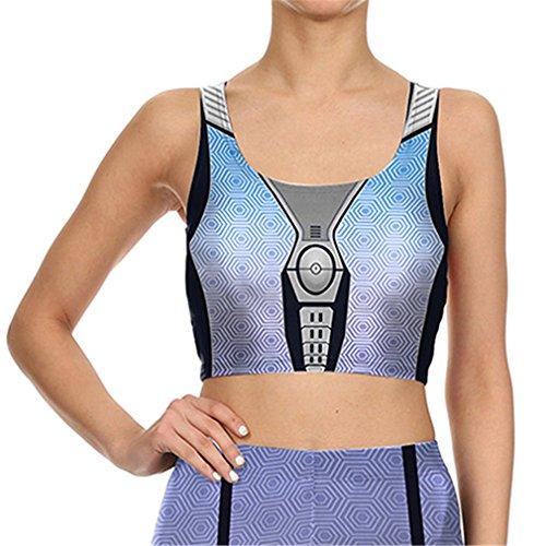 Sommer Damen leggins Sexy Armor Roboter legings Silber 3D-gedruckten Leggings B 03056 XL