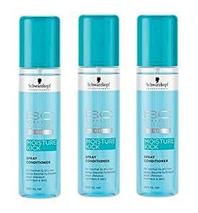 Schwarzkopf Professional - Spray-Baume Conditioner Hydratant pour Cheveux Normaux à Secs - Moisture Kick 3 Pack (3x200ml)