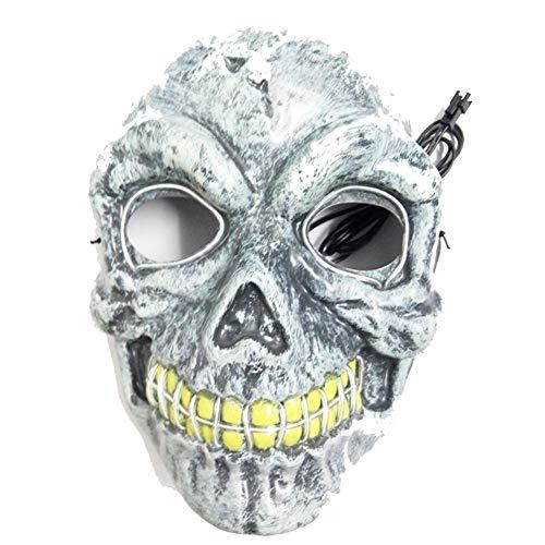 WUYEA Leuchtende Maske Terror Scary Blinkende Maske Für Erwachsene Maskerade Festival Cosplay Requisiten,Yellow