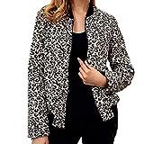 ABsoar Jacke Damen Mantel Winterjacke Bomberjacke Baseballjacken Frauen Baseball Bluse Leopard Sweatjacke Rundhals-Reißverschluss Trenchcoat Regelmäßige langärmelige Jacke