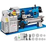 Mophorn 550W Mini-Metalldrehmaschine 7 x 14 Zoll Metalldrehmaschine 0,75 PS 2500 U/min Stufenlos regelbare Spindeldrehzahl Mini-Drehmaschine für verschiedene Arten von Metalldrehen