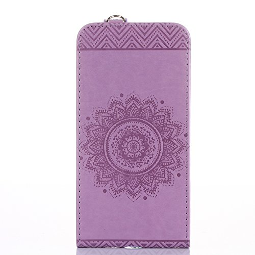 iPhone 7 Plus Custodia Flip,iPhone 7 Plus Custodia in Pelle,Slynmax Stampato Copertura di Ccuoio Folio Cover in PU Dipinto Sintetica Ecopelle Guscio Wallet Case per Apple iPhone 7 Plus Protezione Caso Viola