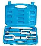 FreeTec 5 pièces Kit de fourche d'extraction de joint à rotule, Séparateur de Joint à rotule, Extracteur de tête de tige de liaison