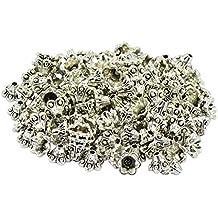 50 Stück Perlenkappen ca 2892 10x3 mm Kappen Perlen Antiksilber Schmuck
