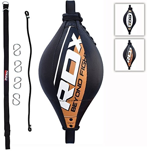 RDX Peras Boxeo Pera Velocidad MMA Doble Bola End Rapida Speed Bag Gim