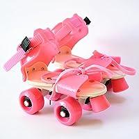 FunBlast Adjustable Quad Roller Skates for Kids (Pink)