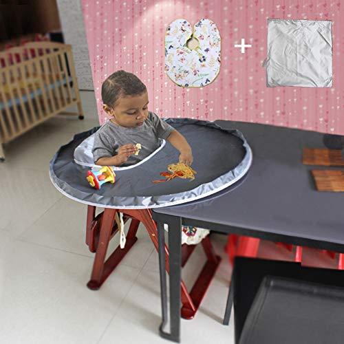 Abnaok Baby Feeding Mat Waterproof Highchair Bumper