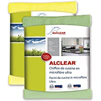 ALCLEAR 8215810yg Ultra-Microfibre Kitchen Cloth, Green/Yellow, 32 x 36 cm, Set of 2 preiswert