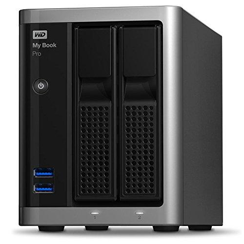 WD My Book Pro 6TB - Desktop RAID External Hard Drive für Apple Mac - Zwei Thunderbolt-2-Ports 20 Gb/s - USB 3.0 - WDBDTB0060JSL-EESN
