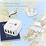 Wall Charger Syncwire USB Plug - 4 Ports 6.8A/34W Multi iPhone USB Fast Charger with Interchangeable UK EU US Travel Adaptor for iPhone X/8/7/6, iPad, Android Samsung Galaxy, Note 8, Tablet, Kindle & More Bild 5