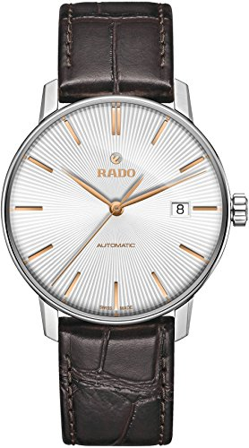 Rado Women's Coupole 38mm Brown Leather Band Steel Case Automatic Silver-Tone Dial Analog Watch R22860025